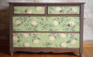 a furniture piece a little extra oomph decoupage, decoupage, repurposing upcycling