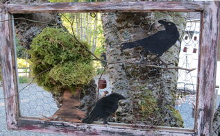 crow on window something to crow about, crafts, repurposing upcycling