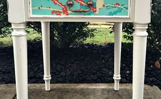decoupage side table, chalk paint, decoupage, painted furniture