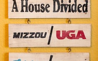 diy pallet house divided sports sign, crafts, pallet, repurposing upcycling