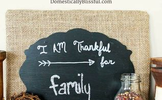 i am thankful for diy chalkboard sign, chalkboard paint, crafts, wall decor