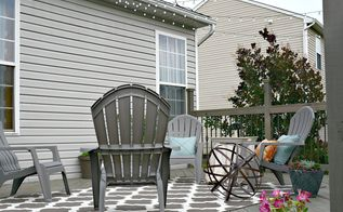 our deck transformation before after, decks, diy, outdoor furniture, woodworking projects, Our first after more changes coming
