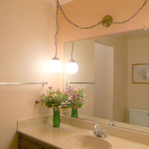 Bathroom Light Fixtures For The Ceiling light fixture upgrade on a budget | hometalk