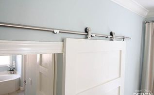 modern barn doors solution for awkward spaces, bedroom ideas, doors