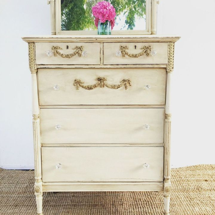 How To Repair And Transform A Vintage Dresser Painted Furniture