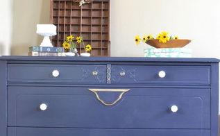navy blue dresser update, painted furniture