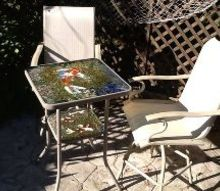 dumpster rescue, outdoor furniture, painted furniture, repurposing upcycling
