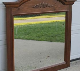 Headboard Made From Dresser Mirror, Bedroom Ideas, Diy, Home Decor, Painted  Furniture