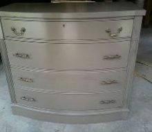 rescued dresser, painted furniture