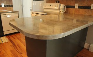 diy concrete kitchen countertop tutorial, concrete masonry, concrete countertops, countertops, diy, how to, kitchen design