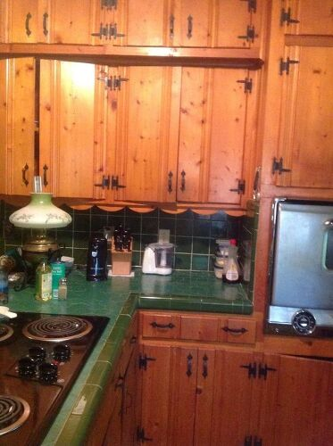 Redoing Knotty Pine Kitchen Cabinets