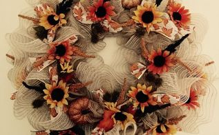 deco mesh fall wreath, crafts, seasonal holiday decor, wreaths