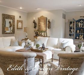 Transforming A Family Room In A Vintage French Country Home, Home Decor, Living  Room