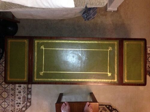 - Green Leather Top Drop Leaf Coffee Table Info Hometalk