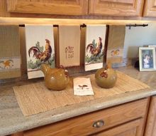 easy decorative handtowel display, home decor, kitchen design