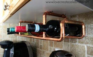 copper wine rack, diy, kitchen design, repurposing upcycling, storage ideas
