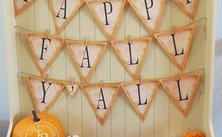 happy fall y all banner tutorial free printable banner letters a z, crafts, seasonal holiday decor