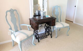 frumpy chairs find french flair, chalk paint, how to, painted furniture, reupholster