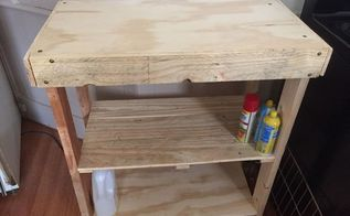 needed something for the kitchen pallet wood and plywood, painted furniture