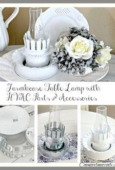 farmhouse table lamp with hvac parts accessories, crafts, lighting, repurposing upcycling