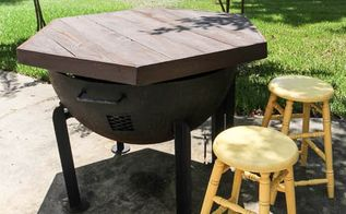 build it hexagon tabletop or fire pit cover, diy, outdoor furniture, outdoor living, woodworking projects