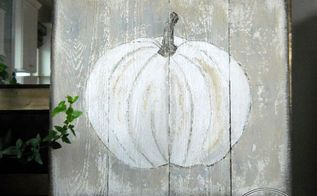 how to paint rustic white pumpkin art, crafts, seasonal holiday decor