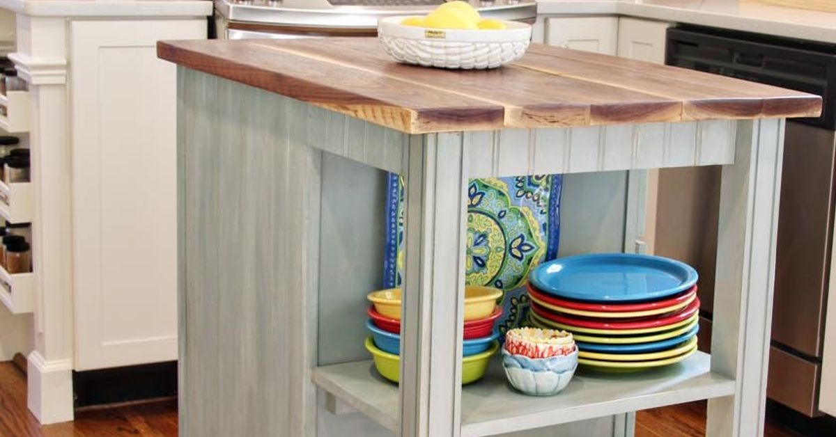 Kitchen Island Cart Diy diy kitchen island cart with plans | hometalk