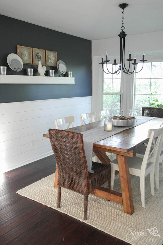 Farmhouse Table And Dining Room Makeover Ideas Diy Painted Furniture