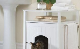 q nightstand cat litter box, diy, how to, pets animals, repurposing upcycling, woodworking projects