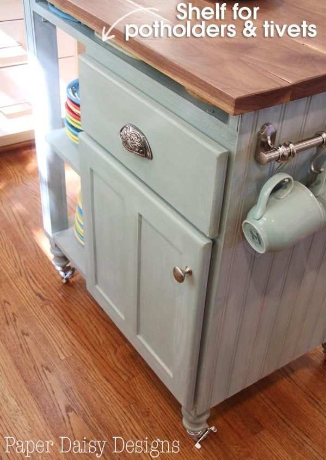 DIY Kitchen Island Cart With Plans