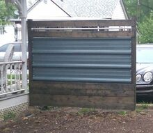 designing a metal and wood fence panel on a budget, diy, fences, landscape, pallet