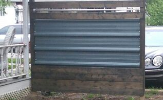 designing a metal and wood fence panel on a budget, diy, fences, landscape, pallet