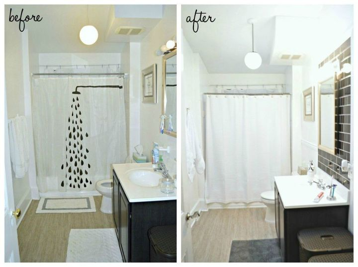 Before After Classic Black White Bathroom REVEAL Hometalk