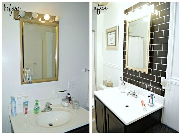 Before After Classic Black White Bathroom Reveal Ideas SmallClassic Black And White Bathroom Designs   Bathroom Design. Black And White Bathroom Ideas. Home Design Ideas