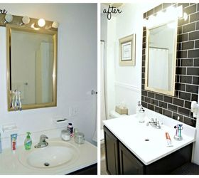 Before After Classic Black White Bathroom Reveal, Bathroom Ideas, Small  Bathroom Ideas