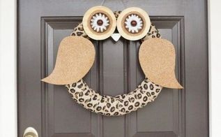 diy owl wreath inspired by country living magazine, crafts, seasonal holiday decor, wreaths