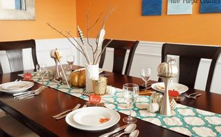 glam meets cozy fall or thanksgiving table setting, dining room ideas, home decor, seasonal holiday decor, thanksgiving decorations