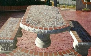 q paint concrete patio table, how to, outdoor furniture, painted furniture, patio
