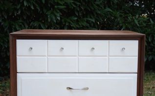 mid century modern dresser makeover for my 9 year old, painted furniture