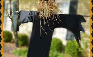 light post halloween scarecrow, crafts, halloween decorations, seasonal holiday decor