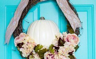 fall floral pumpkin wreath, crafts, seasonal holiday decor, wreaths