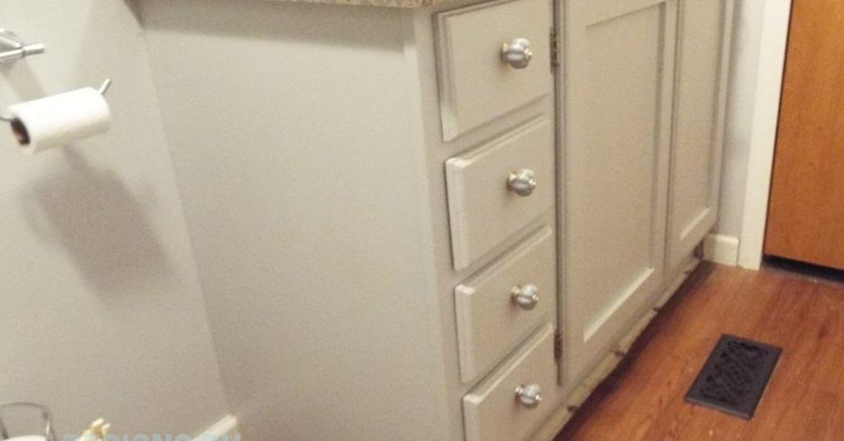 Small Bathroom Hamper a custom built bath vanity with a built-in hamper | hometalk