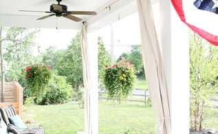 10 drop cloth curtains, curb appeal, diy, how to, outdoor living, reupholster, window treatments