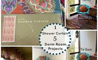 1 shower curtain 5 easy projects, home decor, repurposing upcycling, window treatments