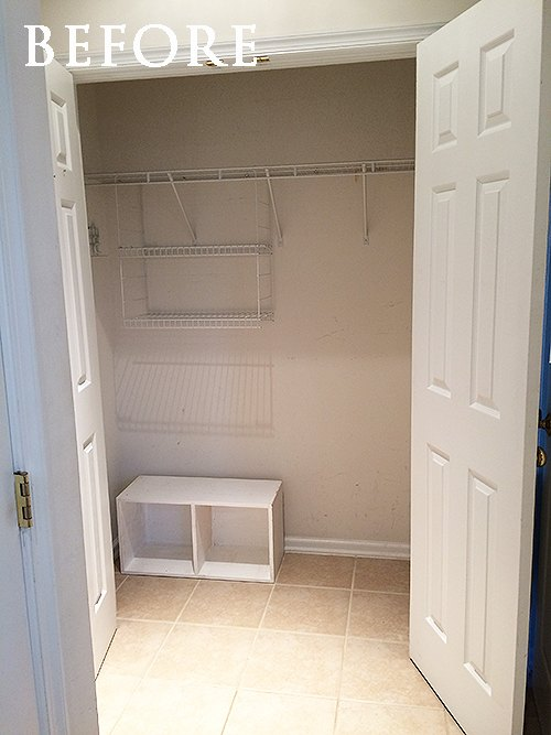 Foyer Closet Dimensions : How we turned an unused hallway closet into a mudroom