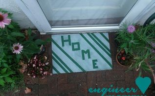 diy painted door mat, crafts