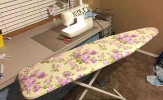 ironing board cover, crafts, how to, reupholster