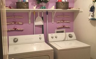 laundry room makeover, home decor, laundry rooms, painting, shelving ideas, wall decor