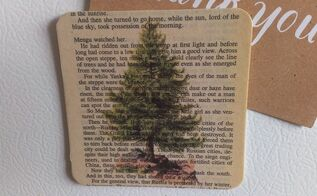diy book page art magnet with graphics, crafts