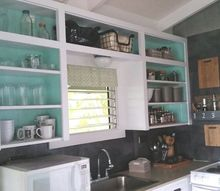 part 2 hawaii cottage reno, diy, home improvement, kitchen cabinets, kitchen design, painted furniture, shelving ideas